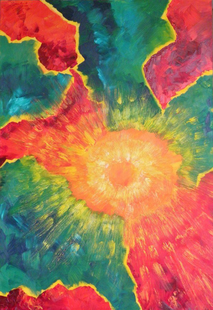 Vlinderachtig, Olieverf op paneel, 122-84 cm € 575,-