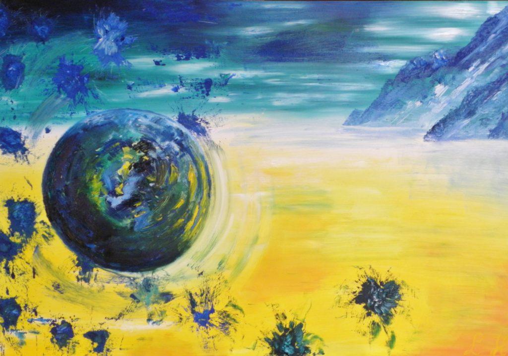 Zand, Olieverf op paneel, 122-84 cm € 575,-